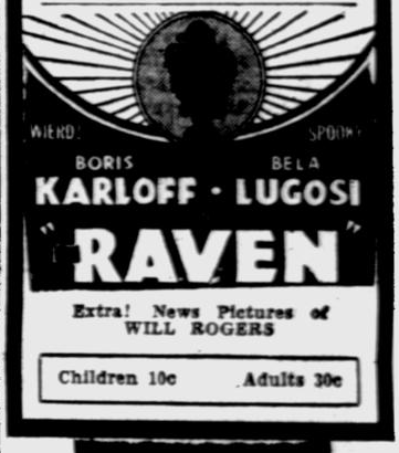 The Raven, The Evening Independent, August 24, 1935