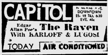 The Raven, The Miami News, August 26, 1935