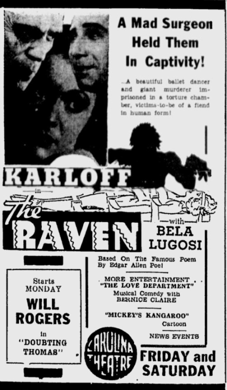 The Raven, The Sunday Spartanburg Herald, July 5, 1935