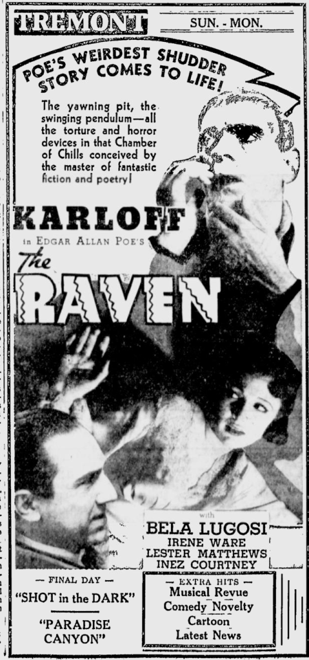The Raven, The Telegraph, July 13, 1935