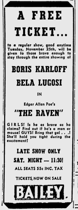 The Raven, Wilmington Morning Star, November 21, 1952