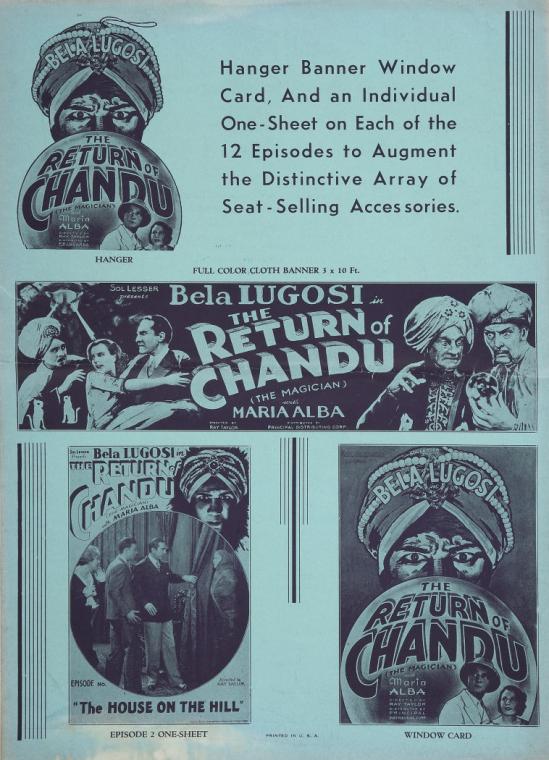 The Return of Chandu Pressbook 6