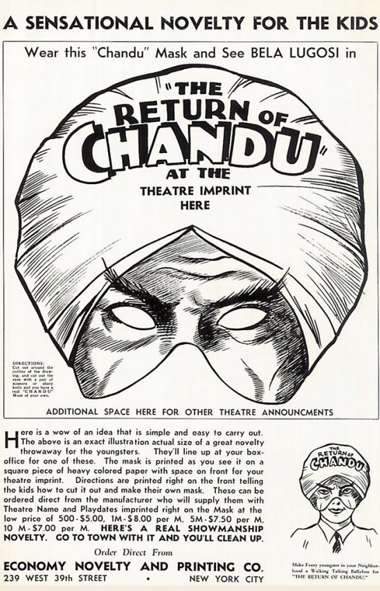 The Return of Chandu Pressbook 8
