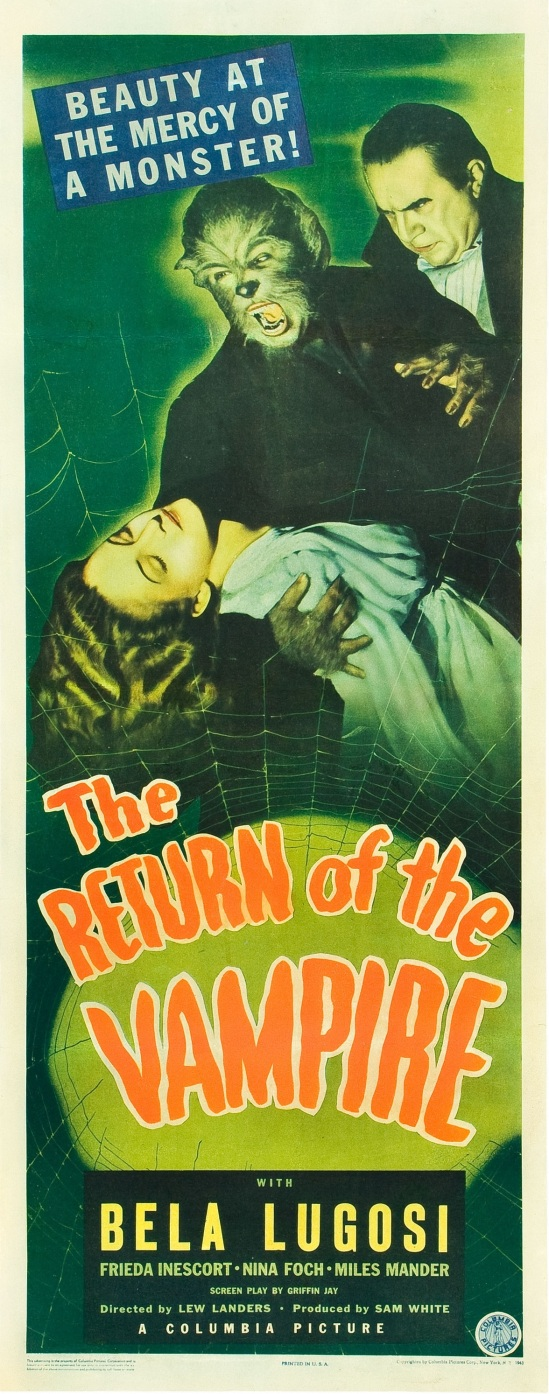 The Return of the Vampire 1943 Insert