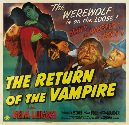 The Return of the Vampire 1943 six sheet