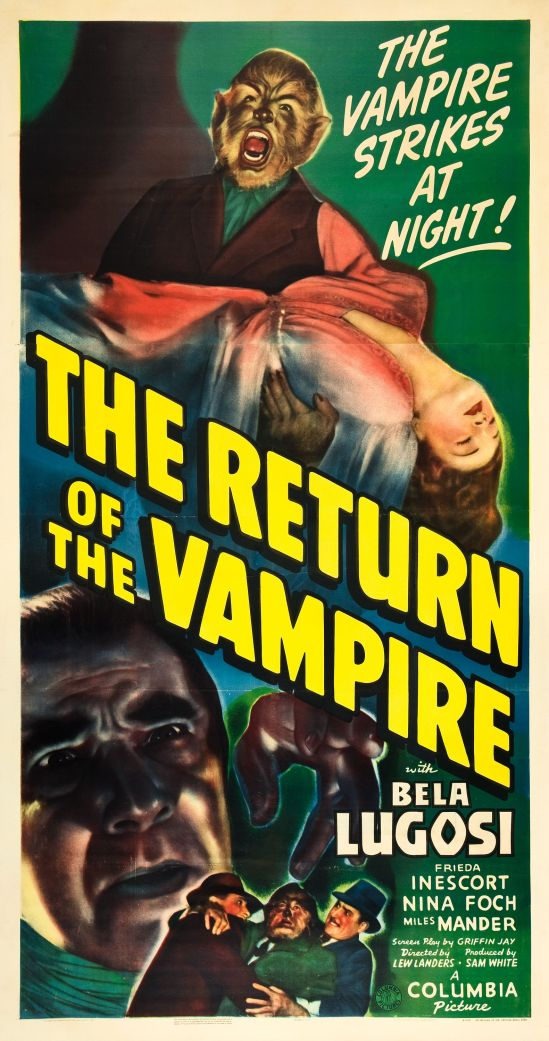 The Return of the Vampire 1943 three sheet