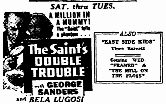 THe Saints Double Trouble, Trenton Evening Times, February 9, 1940