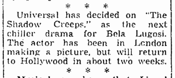The Shadow Creeps, Seattle Daily Times, April 17, 1939