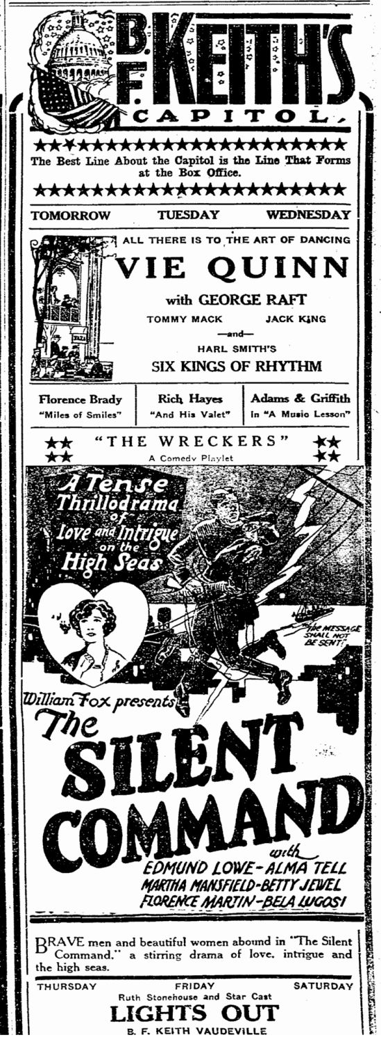 The Silent Command, Trenton Evening Times, December 2, 1923 2