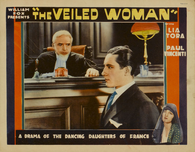 Woman lobby card 2 wearing a veil