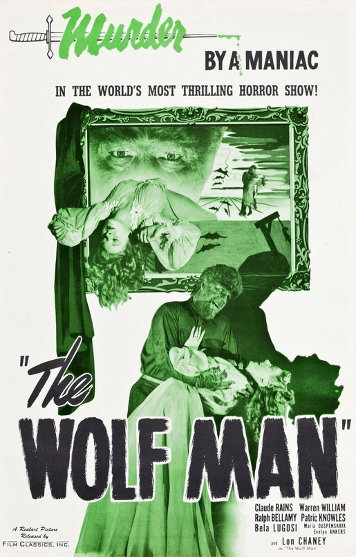 The Wolf Man 1848 Re-Release Pressbook 1