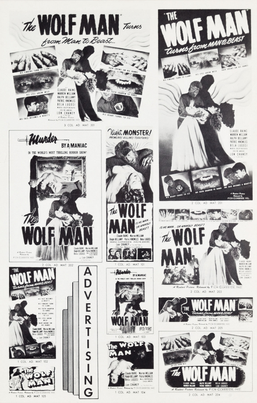 The Wolf Man 1848 Re-Release Pressbook 3