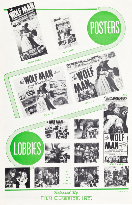 The Wolf Man 1848 Re-Release Pressbook 4