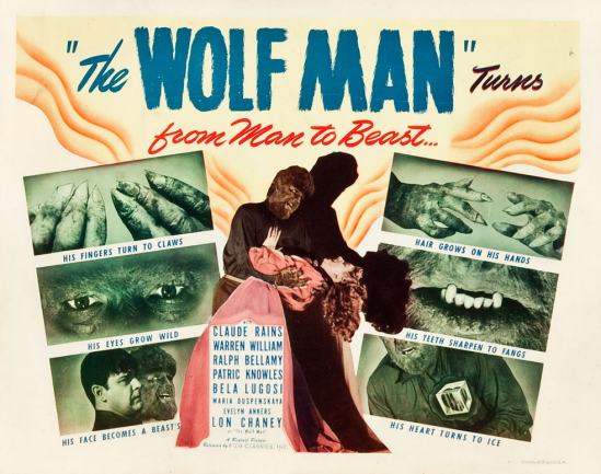 The Wolf Man 1948 Re-Release Lobby Card 1