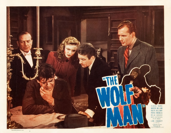 The Wolf Man 1948 Re-Release Lobby Card 2
