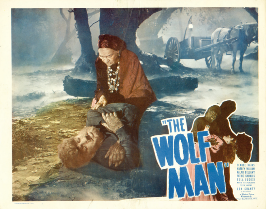 The Wolf Man 1948 Re-Release Lobby Card 4