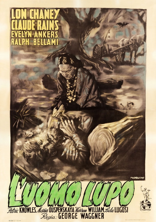 The Wolf Man 1949 First Release Italian 4- Foglio Poster a (artwork by Paolo Tarquini)