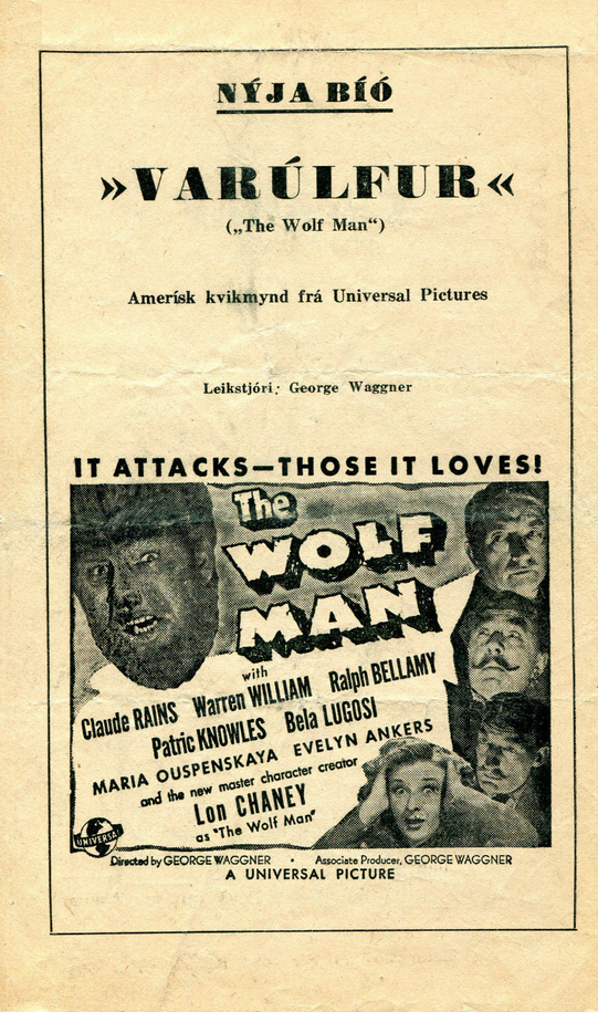 The Wolf Man Icelandic Cinema Programme