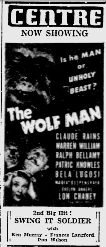 The Wolf Man, Ottawa Citizen, April 1, 1942 b