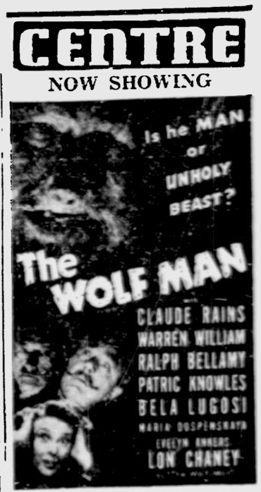 The Wolf Man, Ottawa Citizen, April 2, 1942