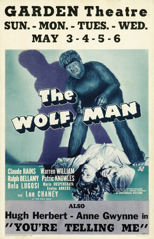 The Wolf Man Window Card