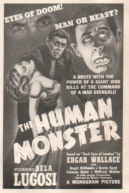 Human Monster Hollywood Reporter, April 19, 1940