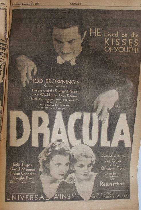 Dracula, Variety, December 31, 1930