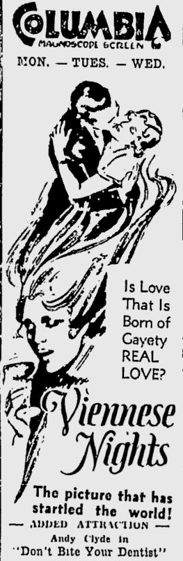 Viennese Nights, Ottawa Citizen, March 7, 1931 3