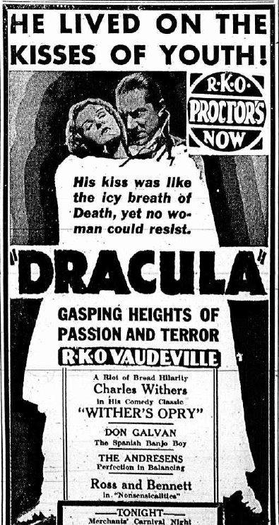 Dracula vintage cinema ads