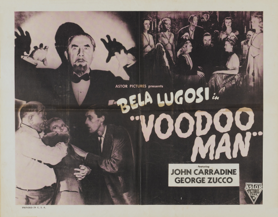 Voodoo Man 1940s Re-Release Half Sheet