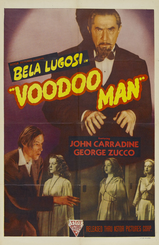 Voodoo Man 1940s Re-Release One Sheet