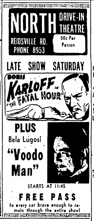 Voodoo Man, Greensboro Daily News, March 7, 1952