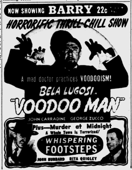 Voodoo Man, Pittsburgh Post-Gazette, February 23, 1944