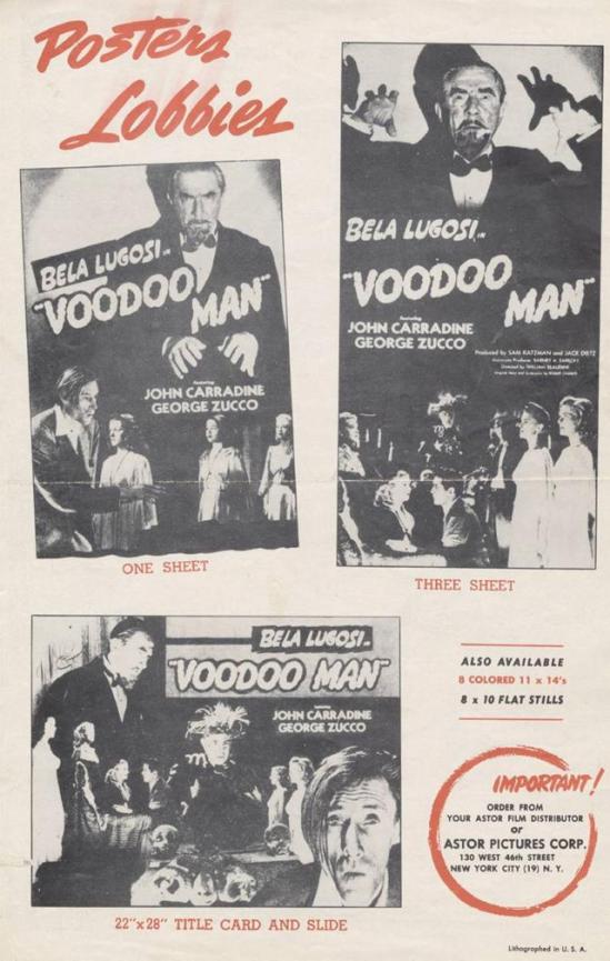Voodoo Man Pressbook B 2