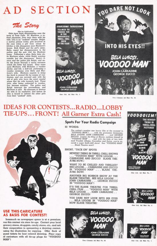 Voodoo Man Pressbook B 4