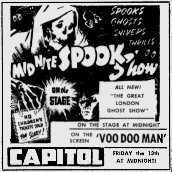 Voodoo Man, The Deseret News, October 10, 1950 b