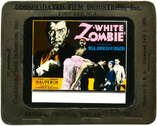 White Zombie Glass Slide