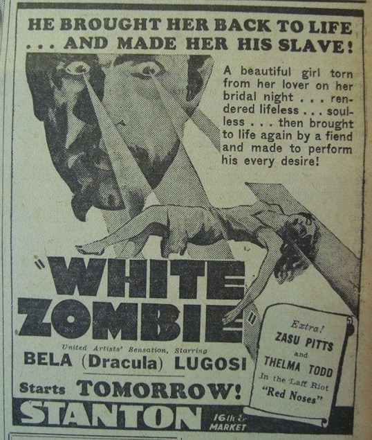 White Zombie, Philadelphia Public Ledger August 12, 1942