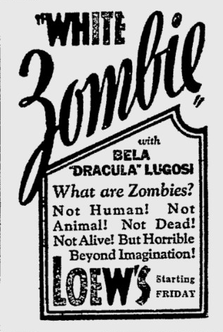 White Zombie, Reading Eagle, August 10, 1932 b
