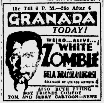 White Zombie, The Spokane Daily Chronicle, February 1, 1933