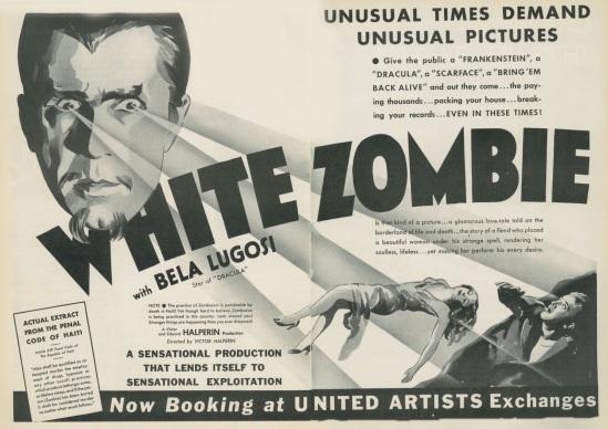 White Zombie Trade Ad 1
