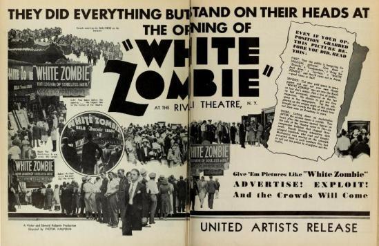 White Zombie Trade Ad 2
