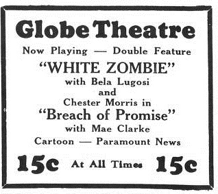 White Zombie, Yale Daily News no. 146 April 13 1933