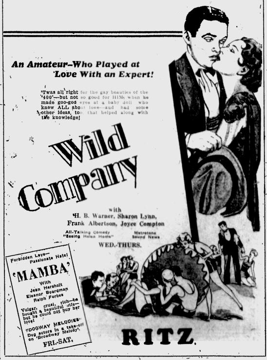 Wild Company, The Tuscaloosa News, December 14, 1930