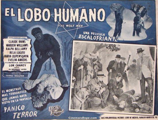 Wolf Man Mexican Lobby Card