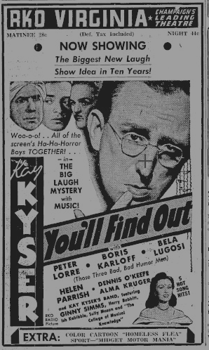 You'l Find Out Daily Illinois, 21 November, 1940