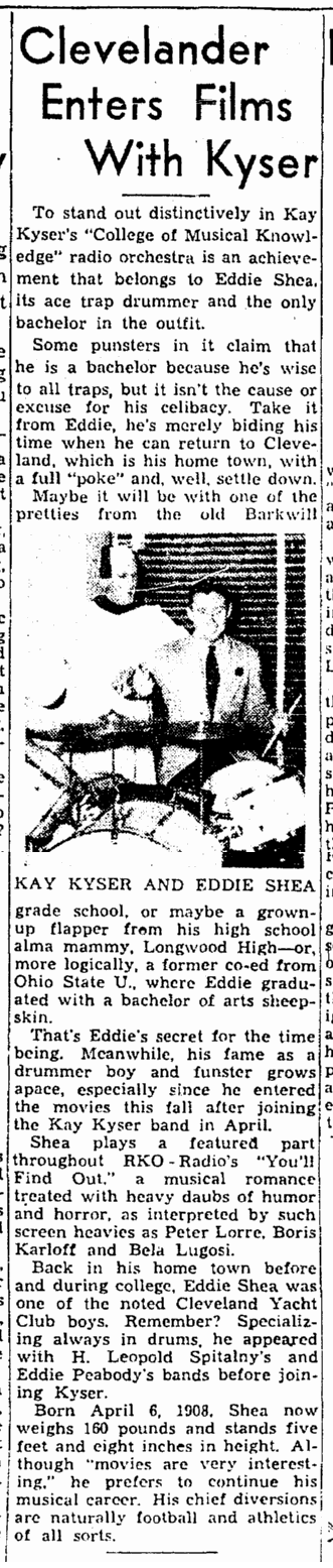 You'll Find Out, Cleveland Plain Dealer, November 2, 1940 a