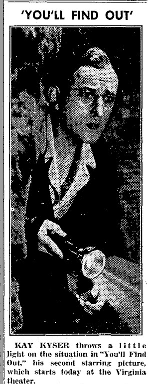 You'll Find Out, Daily Illinois, 21 November 1940