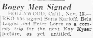 You'll Find Out, Dallas Morning News, November 19, 1940