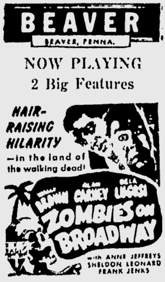 Zombies On Broadway, The Daily Times, January 12, 1946
